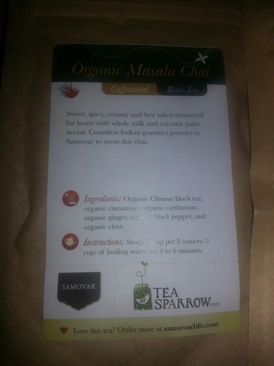 Tea Sparrow - Organic Masala Chai