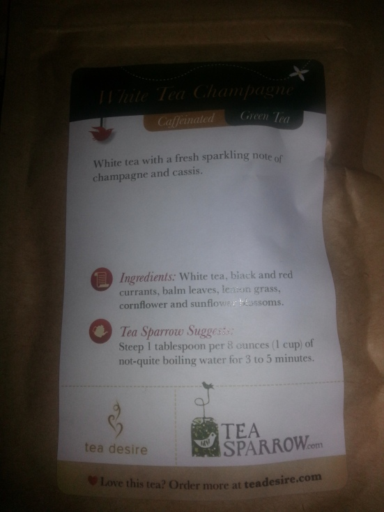 Tea Sparrow - White Tea Champagne
