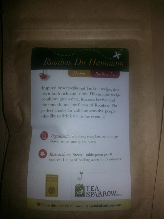Tea Sparrow - Rooibos du Hammam